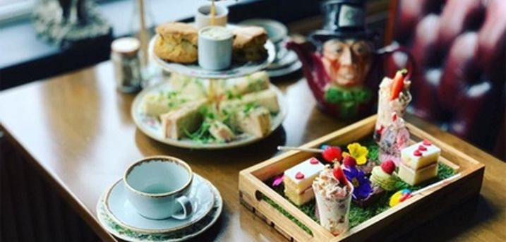 Mad Hatter's Afternoon Tea for Two or Four at The Farmer's Arms