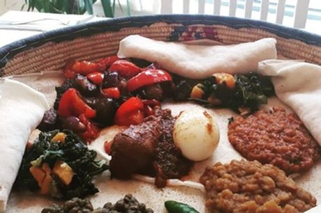 Lunch Sharing Platter or Dinner House Platter with Drink for Two at Abyssinia Kitchen