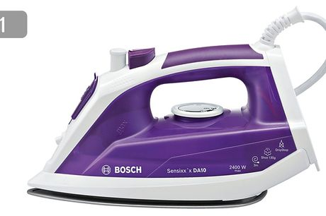 BOSCH Irons - 6 Models     Features drip-stop technology as well as anti-calcium systems     Has a precision tip to smooth out even stubborn creases on shirts     Get an extra-long cable with flexible joints so you can tidy it away when not in use