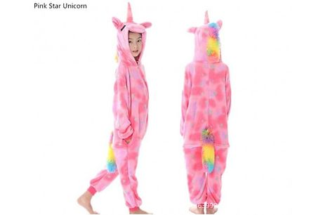 Unicorn Onesie - 3 Colours & 3 Sizes     Choose from sizes: 3-8 years     Please see images for full size guide     Perfect for lounging around the house in     Ideal for cosying up at home during the chilly winter months     Long sleeve one-piec