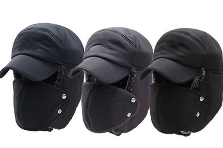 Ushanka 2-In-1 Snow Hat - 3 Colours     Made from soft and breathable cotton material     Simply solid colour design     Adjustable design can fit well on most head sizes     Thickened fleece lining with ear flaps and a mask     Perfect for keepi