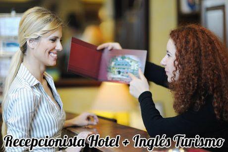Curso online de Recepcionista de Hotel + Inglés Profesional Turismo