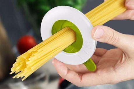 Handlicher Spaghetti Portionierer. Nie wieder zu viel oder zu wenig Pasta kochen. Must Have für alle Pasta Liebhaber. Einstellbarer Portionierer für bis zu 4 Personen. Mit einfachem Drehsystem