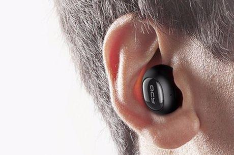 In-Ear Bluetooth Kopfhörer. In lästigen Momenten unauffällig Musik hören dank dieses Mini In-Ear Kopfhörer. Federleicht, lärmisoliert und wasserdicht. Ideal zum Sporten. In vier Farben verfügbar