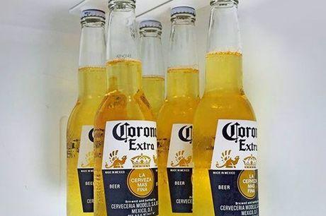Biermagnete für den Kühlschrank. Nutze deinen Kühlschrank optimal. Hänge Bierflaschen, Dosen und allerlei Gefäße mittels Neodym-Magneten auf. Bis zu 5 Kilo Tragkraft. Platzsparend und praktisch