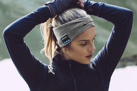 Bluetooth Kopfhörerstirnband. Laufe schneller dank dieses Bluetooth-Stirnbandes. Verbanne lästige Ohrhörer und höre ungehindert Musik. Auch zum Telefonieren geeignet. Kann in die Waschmaschine. Kompatibel mit jedem Bluetooth-Gerät. In drei Farben erhältli