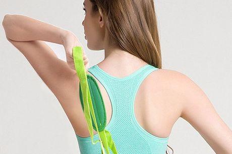 Yoga Dehnband. Für Yoga, Pilates, Physiotherapie und Dehnübungen im Fitnessstudio. Aus dünnem, haltbaren Polyester gemacht. Einfach und sicher. Gut zu verstauen.