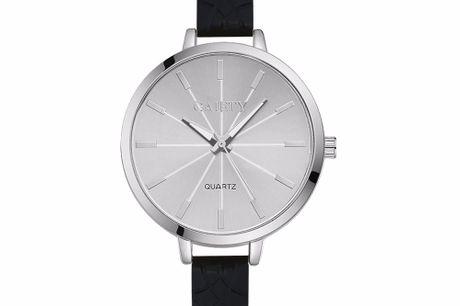 Stilvolle Frauenuhr. Armbanduhr für Frauen. Zeitlos, schlicht und elegant zur gleichen Zeit. Ein echt stylisches Accessoire. In weiss und schwarz erhältlich.