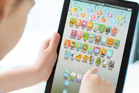 Pädagogisches Spielzeug Tablet für Kinder. Unterhaltsame und lehrreiche Spiele für technisch versierte Kinder. Zahlreiche lustige Spiele und Lieder, um deine Kinder zu beschäftigen. Geeignet für Kinder ab 3 Jahren. Tolles Geschenk für Eltern und kleine Ki