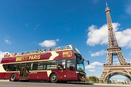 Tickets de bus touristique adultes et/ou enfants, classiques ou deluxes, option night tour avec Big Bus Tours Paris