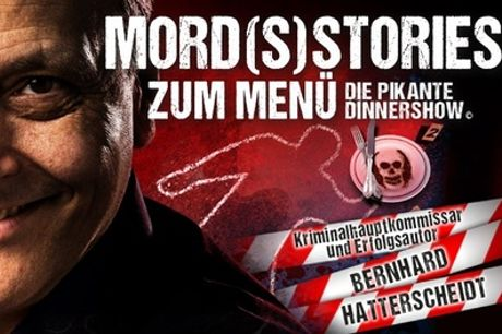 """Ticket für """"Mord(s)stories zum Menü –die pikante Dinnershow"""" ab März u. a. in Bonn u. Essen (bis zu 13% sparen)"""