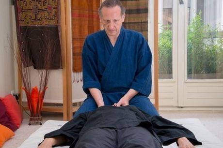 Diagnostic et modelage avec un soin shiatsu d'1h à 29,90€ chez Thierry Shiastu Paris