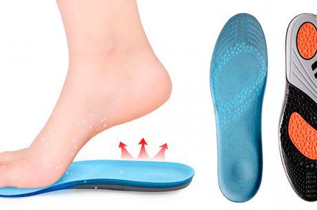 Stødabsorberende skoindlæg der giver støtte og modvirker ømme fødder