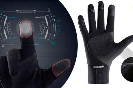 Vandtætte selvopvarmende handsker med antiskrid og touch-funktion