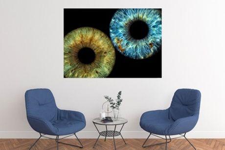 """Fotoausdruck """"Groß"""" des Auges für 1 oder 2 Iriden bei Eyesight Iris-Fotografie (bis zu 33% sparen*)"""