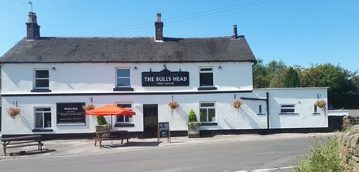 Flat Iron Steak Meal with Large Glass of Wine for Two or Four at The Bulls Head