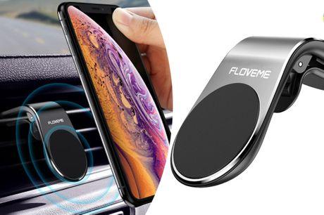 Smart magnetisk mobilholder til køreturen - passer til de fleste telefoner
