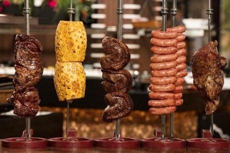 Buffet libre de rodizio para 2 o 4 con postre y bebida en Restaurante Sabores Parrilla (hasta 42% de descuento)