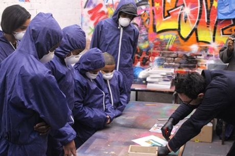 Two-Hour Graffiti Class with Canvas for Two Children or Two Adults at Graffik Gallery