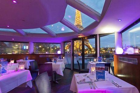 Croisière ''Magic Paris by Night'' avec option dîner et/ou nuitée pour 2 personnes VIP Paris Yacht Hôtel