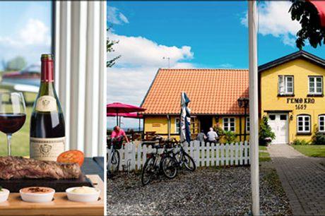 Vælg mellem flere skønne ophold for 2 - Besøg skønne Femø og bo billigt og dejligt på Femø Kro. Vælg mellem forskellige typer ophold med 2 eller 3 nætter for 2 personer, værdi op til kr. 4338,-