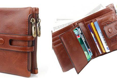 RFID læder tegnebog