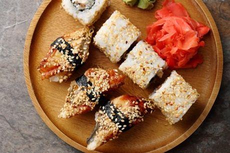 Menú de sushi para llevar para 2 o 4 con 40 u 80 piezas y bebida en Okinawa Sushi (hasta 76% de descuento)