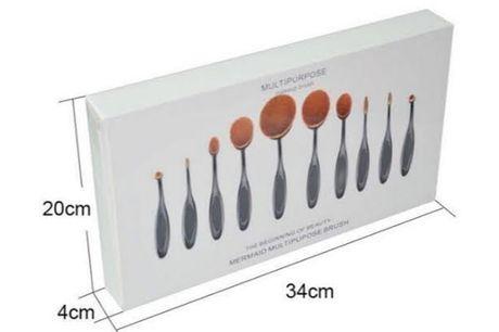Ovale Make-up Borstelset (10-delig)