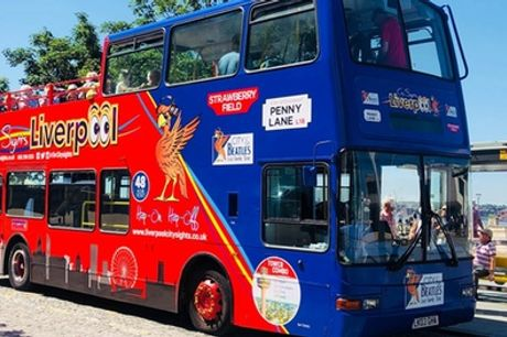Guided Bus Tour with Optional Beatles' Tour for Two or Five with Liverpool City Sights