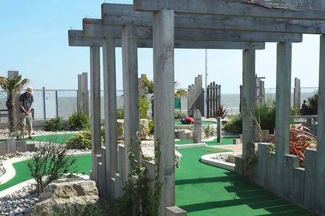 £1.75 instead of £3.50 for a nine-hole adventure golf game for one child, £2.25 for one adult, or £8 for a family of two adults and two children at Greensward Cafe, Clacton-On-Sea - save 50%