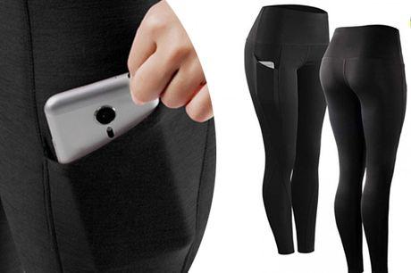 Løbe leggings med lommer