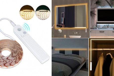 Praktisk selvklæbende LED-lysbånd der tænder ved bevægelse