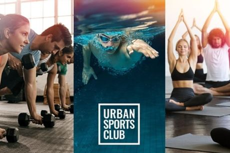 1, 3 o 6 meses de suscripción a elegir en Urban Sports Club y sus centros deportivos asociados