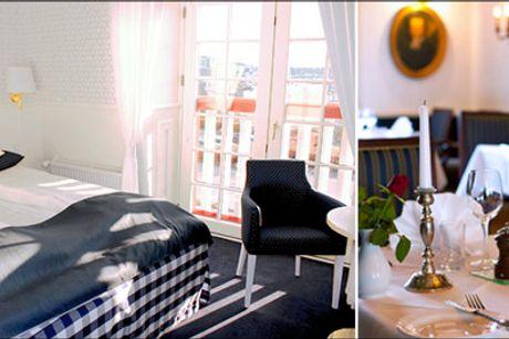 Romantisk luksusophold på Sydsjælland  - En overnatning for 2 i luksusværelse inkl. morgenmad med champagne og morgenbitter, velkomstkaffe og kage, drink, 3 retters menu og farvelpose. Værdi kr. 2362,-