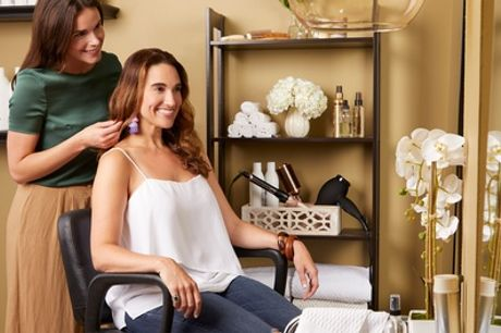 Wash, Cut and Blow-Dry with Optional Full Head of Colour or Highlights at Roop Beauty Salon