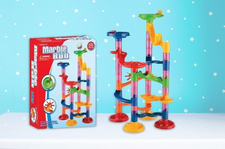 £3.99 instead of £29.99 (from Pinkpree) for a 29-piece marble run set, £7 for a 50-piece set, £8.99 for a 74-piece set, £11 for a 80-piece set, £13 for a 91-piece set or £15 for a 105-piece set - save up to 87%