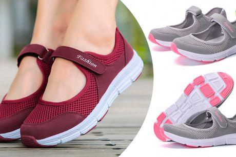Stilrene sneakers med praktisk lukning og komfortabelt åndbart design