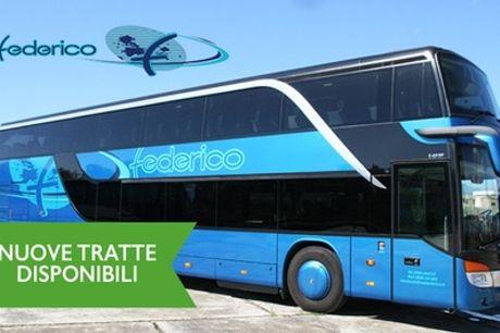 Biglietto bus per una o 2 tratte in tutta Italia con Autolinee Federico (sconto fino a 66%) Valido 12 mesi