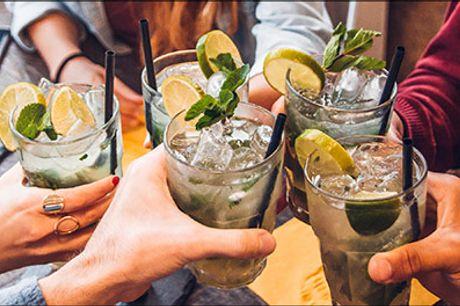 Lækre Cocktails og sprøde nachos, se mere her - Er du vild med Sex on the beach, Mojitos og sprøde nachos? Vælg mellem flere forskellige deals. Værdi op til kr. 169,-