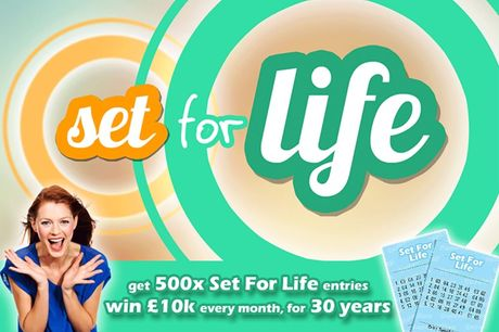 £7.50 instead of £25 for 500 Lotto Set For Life Lines with You Play We Play - save 70%