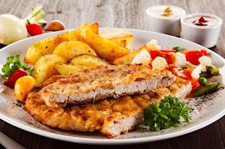 All-you-can-eat: Schnitzel-Buffet inkl. Beilagen für 1 bis 4 Personen im Fünf Mädelhaus (bis zu 38% sparen*)