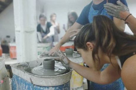 90-Minute BYOB Pottery Painting or Making and Painting Experience at Token Studio