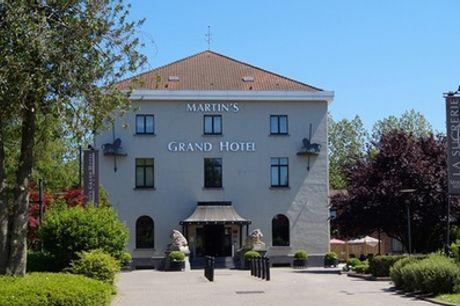 Waterloo: charming tweepersoonskamer met ontbijt, naar keuze met bubbelbad in 4* Martin´s Grand Hotel Waterloo