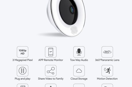 360º Cloud Storage Security Wifi Camera