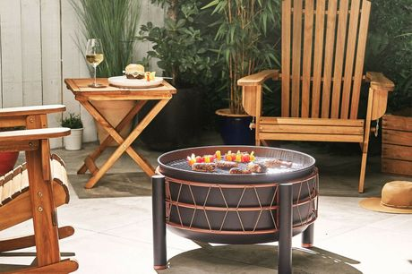 Solid Steel Fire Pit BBQGrill