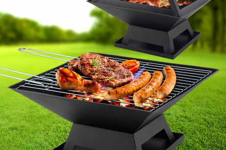 BBQ Grill Square Fire Pit