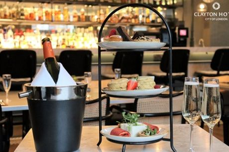 Vegan Afternoon Tea with Prosecco for Two or Four at Clayton Hotel City of London