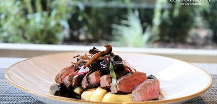 Two-Course Dinner and Bottle of Wine for Two or Four at 4* Clayton Hotel City of London