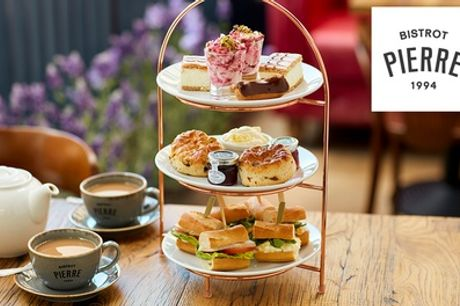 Afternoon Tea or Sparkling Afternoon Tea for Two at Bistrot Pierre, 19 Locations
