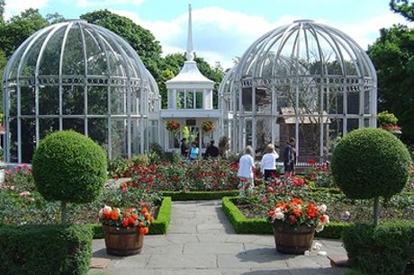 Entry and Traditional or Champagne Afternoon Tea for Up to 6 at The Birmingham Botanical Gardens